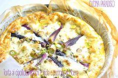 Torta ai cipollotti bianchi e viola e puzzone di Moena #cucinaparadiso #sfoglia #cipollotti #puzzone #moena #puffpastry #springonions #italiancheese