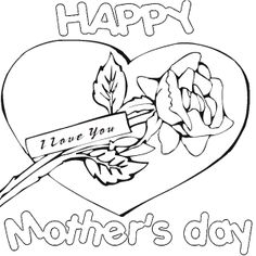 Mothers Day Coloring Sheets Printable For Kids  Kids Coloring