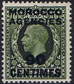 Morocco Agencies French Currency 1935 SG 222 King George V Fine Mint SG 222 Scott 432 Other British Commonwealth Stamps here