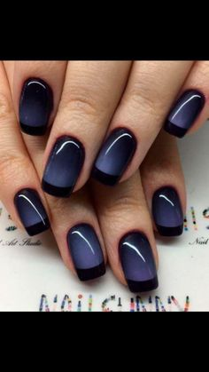 35 Attractive Magnetic Nail Polish Designs Do you want to try something different this fall? Think about making a cool magnetic manicure. French Nail Designs, Ombre Nail Designs, Nail Polish Designs, Simple Nail Designs, Nail Art Designs, Nails Design, Pedicure Designs, Blog Designs, Newest Nail Designs