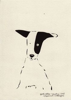 Cani in Cornice: Sophie (papercut+collage)