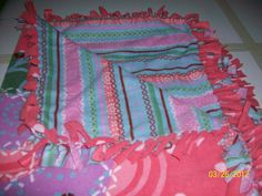 Love on Pink/Multi Color Designs No Sew Blankets, Comfy Blankets, Pillows, Sewing, How To Make, Pink, Color, Dressmaking, Couture