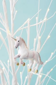 Prancing Pink Unicorn - Tree Ornament