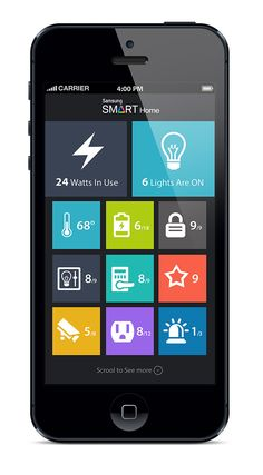 Samsung Smart Home App Concept by Ali Rahmoun, via Behance