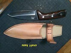 ナイフシースのご依頼で製作いたしました            お持ちになっているナイフを送ってい...