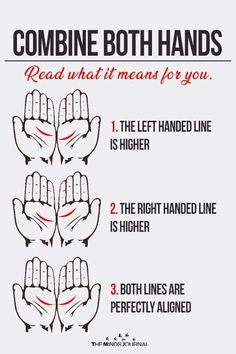 Place the palms of your right and left hand together as shown below and compare the palm lines right below the fingers. Do you form a 2 or 3 Palm Reading Lines, Palm Reading Charts, Palm Lines, Palm Reading Right Hand, Hand Lines Meaning, Empathetic Person, Palmistry Reading, Cultures Du Monde, Love Life