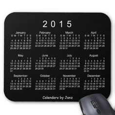 2015 Neon White Calendar by Janz Mousepad Mouse Pads #2015CalendarMouspad from @CalendarsbyJanz . For more like this go to http://www.zazzle.com/calendars_by_janz?rf=238656250999501047&tc=PinPODShoppers