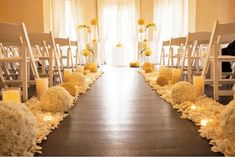 Church wedding inspiration--looks like an outdoor wedding indoors.