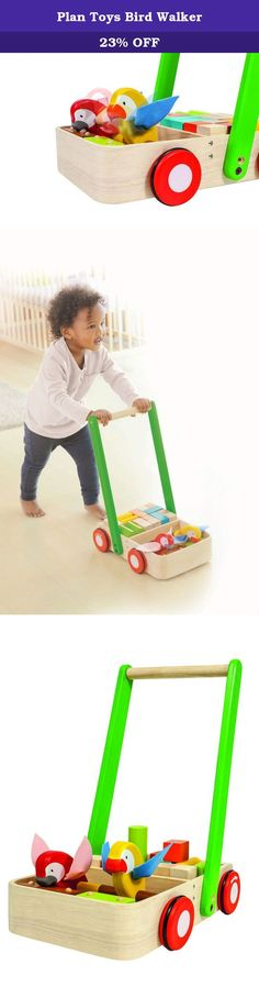 Plan Toys Bird Walker. Bird walker comes with 2 birds and 16 wooden blocks. When pushed, it creates a unique sound which encourages kids to walk. For more than 30 years, PlanToys has been consistently developing its products and activities with a strong commitment to contribute positively to the world. By implementing best practices and taking innovation of toy-making and design to the next level, PlanToys is not only known as being the first company to manufacture wooden toys from...