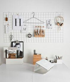 skandinavisches Design Einrichtungsbeispiele Arbeitsplatz Wand Gestaltung