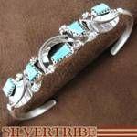 Amy Lacosbino Zuni Indian Turquoise Sterling Silver Bracelet