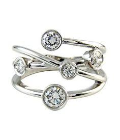 bubble diamond rings | ... diamond bubble ring , featuring 5 round brilliant diamonds, set in 18k