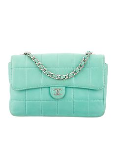 72cf6411e60 Mint green quilted leather Chanel Mini crossbody bag with silver-tone  hardware, chain-link shoulder strap, CC logo at front, mint green woven  lining and ...