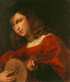 Italian Renaissance Art - Male Lute Player
