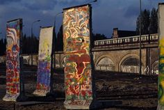 """Remains of the Berlin Wall, 1991. Nick Paumgarten explains why it seems reductive to characterize Berlin as """"Ibiza or Cancun, but with bad weather."""" http://nyr.kr/10ZxAus (Photograph by Thomas Hoepker/Magnum)"""