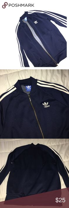 Navy Blue Adidas jacket Navy Blue Adidas jacket thick material and super cute. In good condition Size M  adidas Jackets & Coats