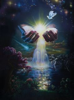 Receive the fountain of my grace and blessings, says the Lord. Christian Artwork, Christian Pictures, Images Ciel, Art Prophétique, Image Jesus, Art Amour, Heaven Pictures, Art Visionnaire, Pictures Of Jesus Christ