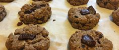 Gluten free 'tollhouse cookies' made from homemade nut butter. #eggfree #vegan…