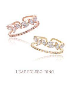 Rose Gold & Gold Leaf Bolero Rings
