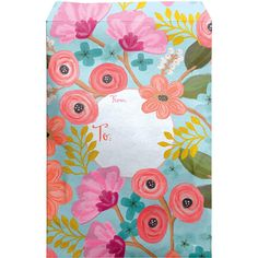 """Large 11"""" x 15.5"""" Printed Padded Mailing Envelopes, Gypsy Floral Mailing Envelopes, 30 Gifts, Fine Paper, Biodegradable Products, Pastel Blue, Tissue Paper, Contents, Floral Prints, Presents"""