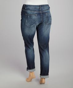 Look at this Vigoss Medium Wash Thompson Tomboy Cuff Jeans - Plus on #zulily today!