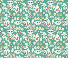 woodland fox fun fabric by bethan_janine on Spoonflower - custom fabric