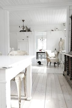 White home inspiration from: HANNES DAGBOK.  Just needs me and my COLORFUL accesories to move in.