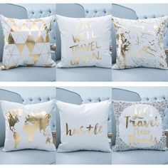 Couch Cushion Covers, Throw Cushions, Gold Pillows, Diy Pillows, Indian Pillows, Childrens Bedroom Decor, Cute Bedroom Ideas, Modern Pillows, Decorative Cushions