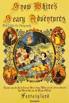 """Snow White's Scary Adventures"" (Classic Disneyland Poster)"