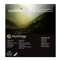 Garmin HuntView™ Maps - Colorado. Featuring exclusive BirdsEye Satellite Imagery and 1:24K scale TOPO mapping, these preloaded microSD™ cards offer a seamless hunting map solution for Garmin handheld GPS devices. Map data is collected from multiple sources, providing full state-by-state coverage with routable road and trail data, public/private land types and boundaries (BLM, National wildlife refuges, National parks, WPA, WMA), food/fuel locations and more. Included BaseCamp™ software lets…