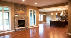 open floor plan...when we knocked down the kitchen wall  I WOULD LOVE THIS TO BE MY HOME