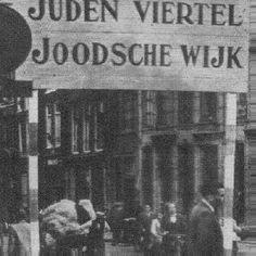 Wijken waar Joden woonden werden duidelijk zichtbaar aangegeven.