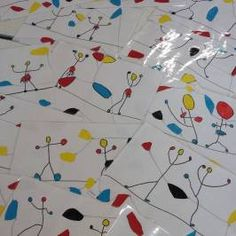 Calder& tightrope walkers - Yesterday I presented you with a nice book on artist Calder. Today, I present to you the activity t - Alexander Calder, Kids Art Class, Art For Kids, Art Montessori, Art Mat, Classroom Art Projects, Circus Art, Ecole Art, Art Lessons Elementary