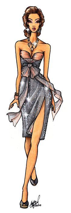 Потрясающие луки 2017 года в рисунках (эскизы одежды) – queenofstyle.ru