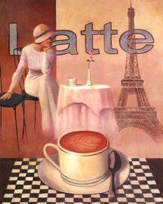 T.C. Chiu - Latte - Paris - art prints and posters