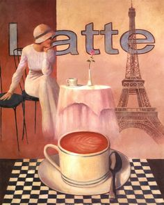 T.C. Chiu - Latte - Paris - art prints and posters