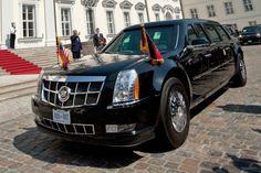 """#Obama in GER,da ist """"#TheBeast"""" nicht weit. Bald jedoch wird der gepanzerte+massiv umgebaute #Cadillac DTS ersetzt. http://www.autobild.de/artikel/obamas-cadillac-dts-the-beast-4243587.html"""