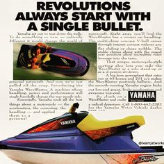 Yamaha Waverunner, Jet Ski, Cool Boats, Water Crafts, The Past, Waves, Motorcycles, Youth, History