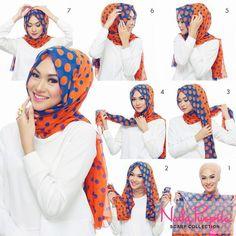 How to wear scarf. easy way to wear hijab with gown.Hijab style step by step tutorials. Turban Hijab, Hijab Musulman, Beau Hijab, Mode Turban, Hijab Stile, Muslim Hijab, Hijab Chic, Hijab Dress, Turkish Hijab Style