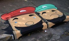 """""""Mario Brothers"""" - by artists August Anderson and Leonardo Delafuente of 6emeia"""