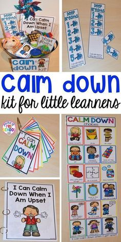 Calm Down Techniques will help you teach your students strategies to calm down when they are upset. It includes a class read aloud calm down posters calm down cards yoga cards deep breaths visual book list positive notes and more! Learning Activities, Preschool Activities, Calming Activities, Preschool Classroom Centers, Preschool Themes By Month, Aba Therapy Activities, Writing Center Preschool, Feelings Preschool, Kindergarten Classroom Organization