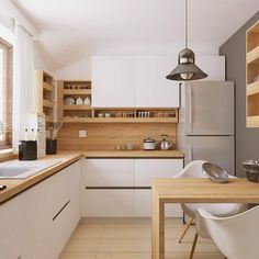 Proiecte mobilă la comandă - Portofoliu | ArtDecor House Painting Kitchen Cabinets, Kitchen Cabinetry, Rustic Kitchen, Kitchen Decor, Kitchen Views, Kitchen Colour Schemes, Scandinavian Kitchen, Minimalist Kitchen, Küchen Design