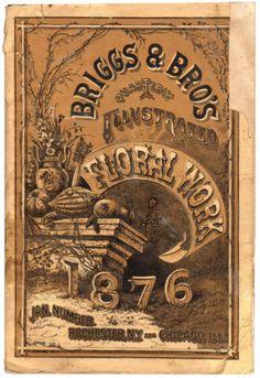 1876 Briggs Bros Seed Floral Work Catalog Beautiful Engravings | eBay