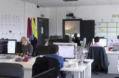 Inside the Hassle office in London.