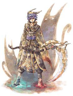 Tags: Anime, Chrono Cross, Scythe, Dark Serge, Tokio (Artist)