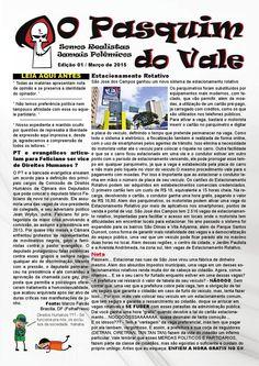 O Pasquim do Vale Edição 01  Trabalho de Diagramação