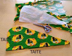 muntaipale - kankaita ja ompeluniloa: Ompele kätevä ja helppo pyyheturbaani - katso ohje ja video ❣ Sewing Tutorials, Diy Gifts, Fabric, Crafts, Xmas, Christmas, Bath, Inspiration, Tejido