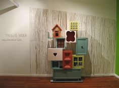 made from recycled furniture....would love to make something like this for Bean's room!