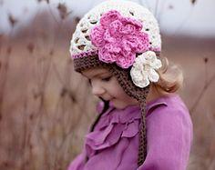 Artículos similares a Chicas sombrero Turqouise gorrita tejida ganchillo bebé  chicas sombrero ganchillo niño chicas sombrero ganchillo chica gorro regalo  de ... a4b0c2f2aa9