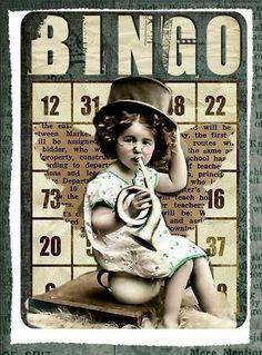 Altered Art Bingo Cards with Vintage Children by SenecaPondCrafts